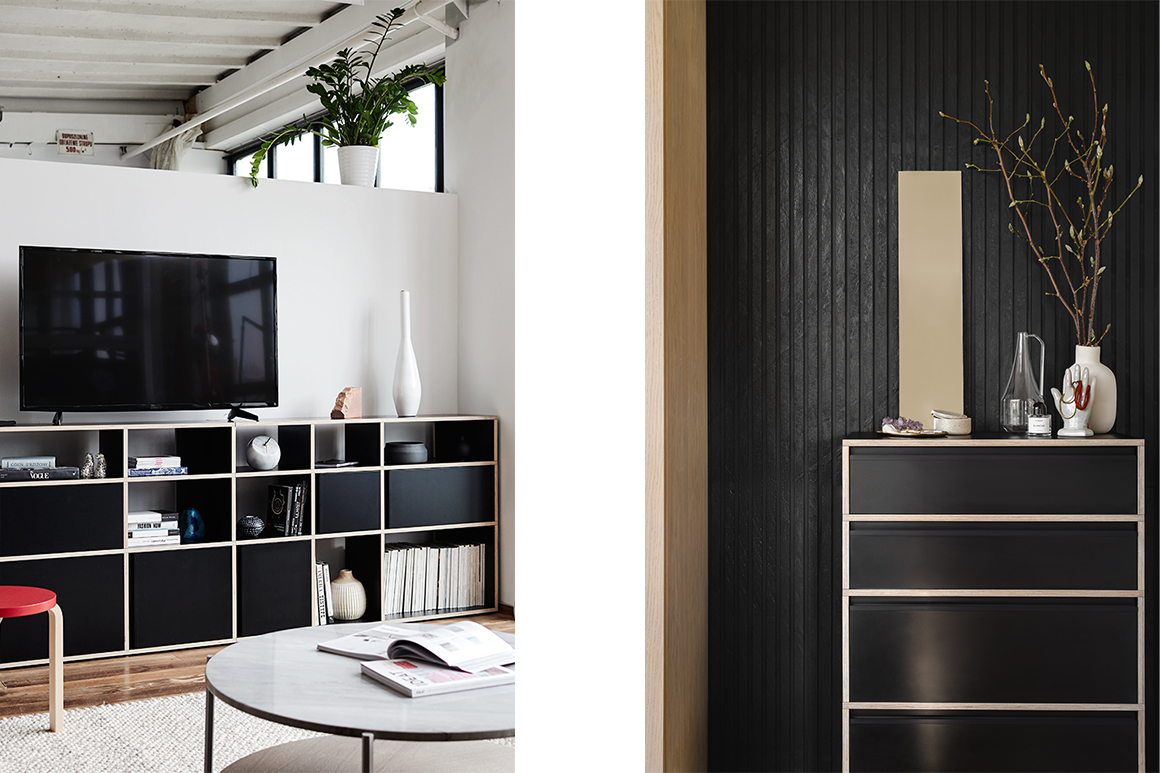 Tylko sideboards with tall objects at the end