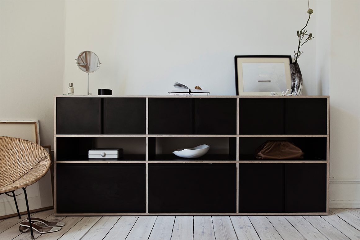 Tylko Type01 black sideboard with filled-in spaces