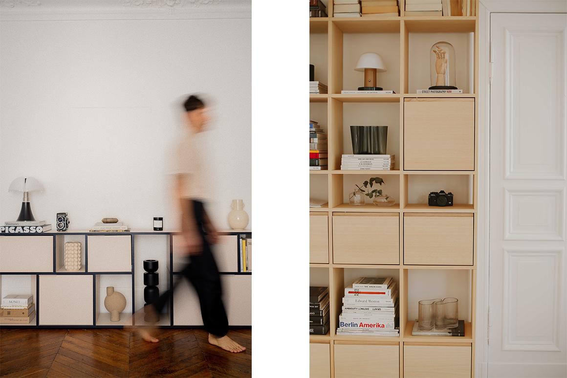 Tylko sideboard and Tylko bookcase neatly stilised
