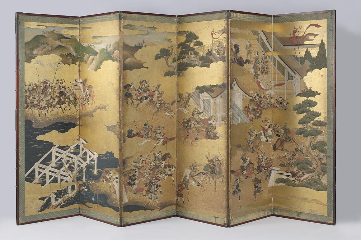 An example of byōbu (Rijksmuseum, CC0, via Wikimedia Commons)