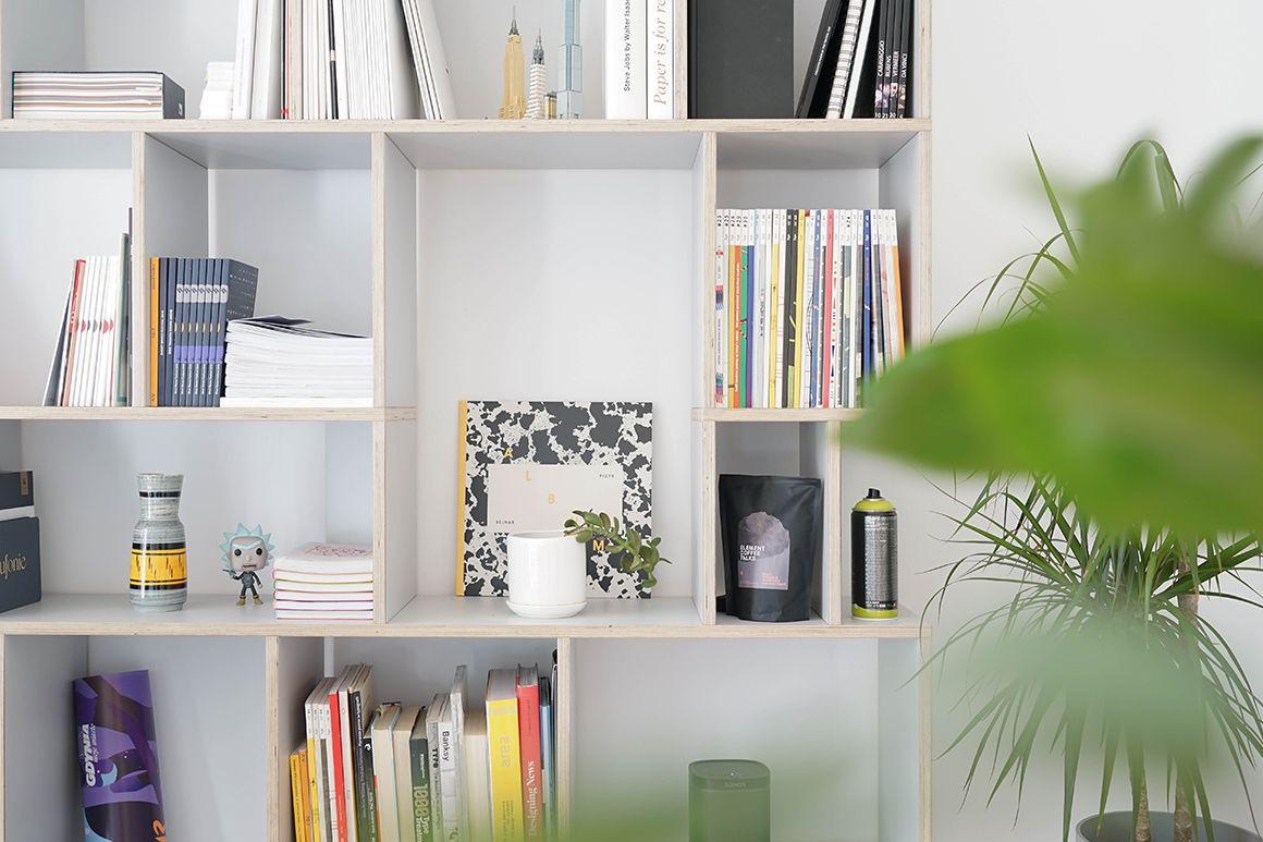 Displaying items on shelves