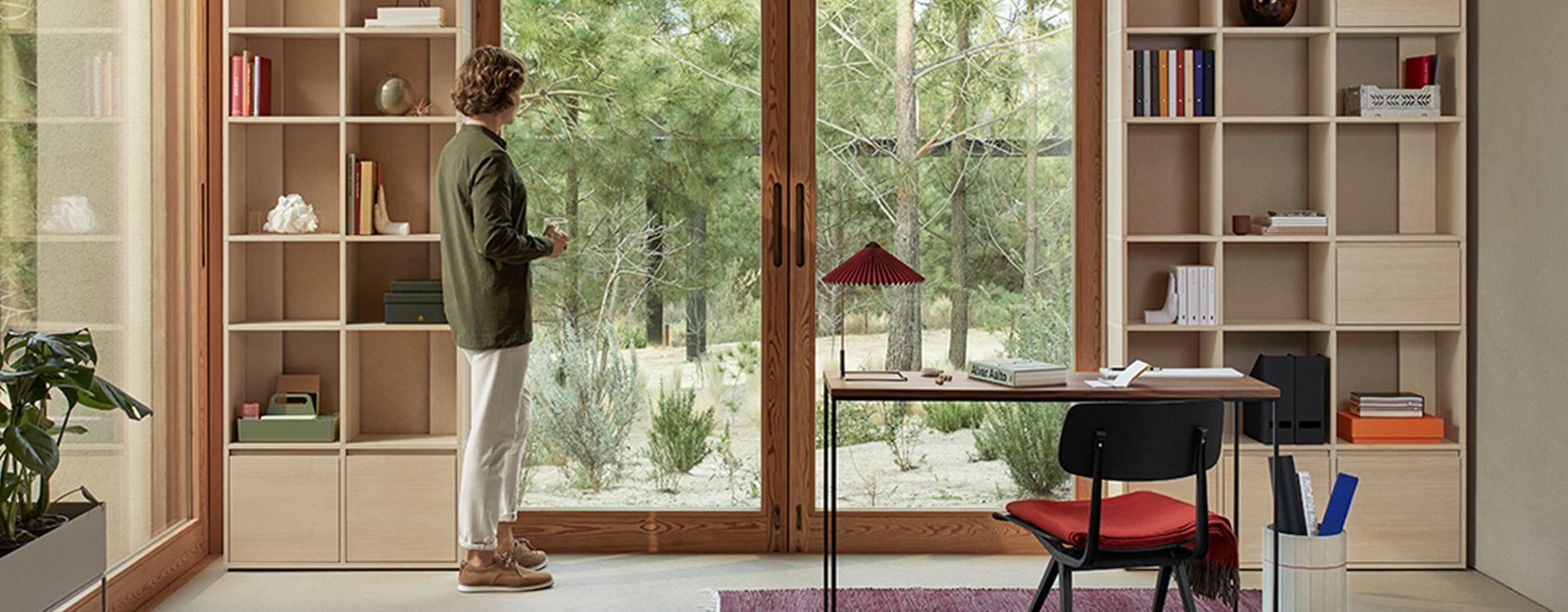Scandinavian interior with Type01 Veneer bookcase