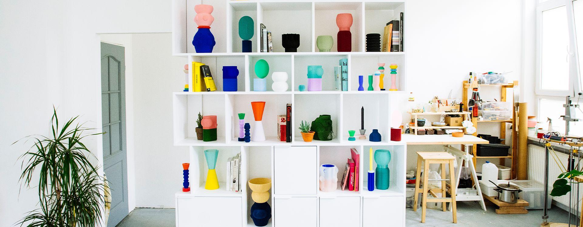 Shelves can unleash your inner artist